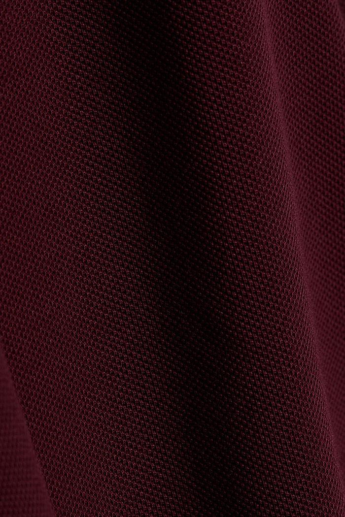Piqué-Poloshirt aus 100% Pima Cotton, DARK RED, detail image number 4