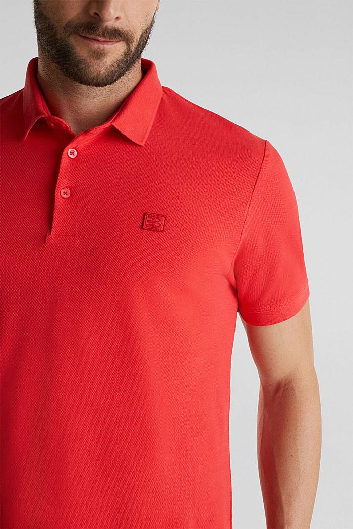 Piqué-Poloshirt aus 100% Pima Cotton, CORAL RED, detail image number 1