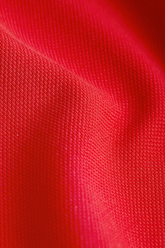 Piqué polo shirt made of 100% pima cotton, CORAL RED, detail image number 4