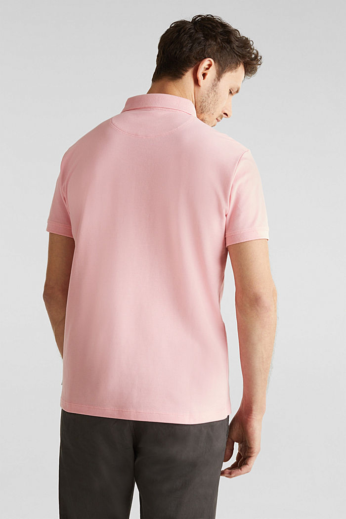 Piqué polo shirt made of 100% pima cotton, LIGHT PINK, detail image number 3