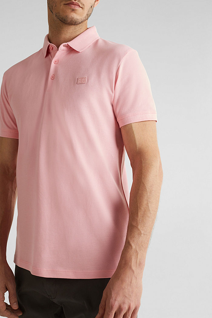 Piqué polo shirt made of 100% pima cotton, LIGHT PINK, detail image number 1
