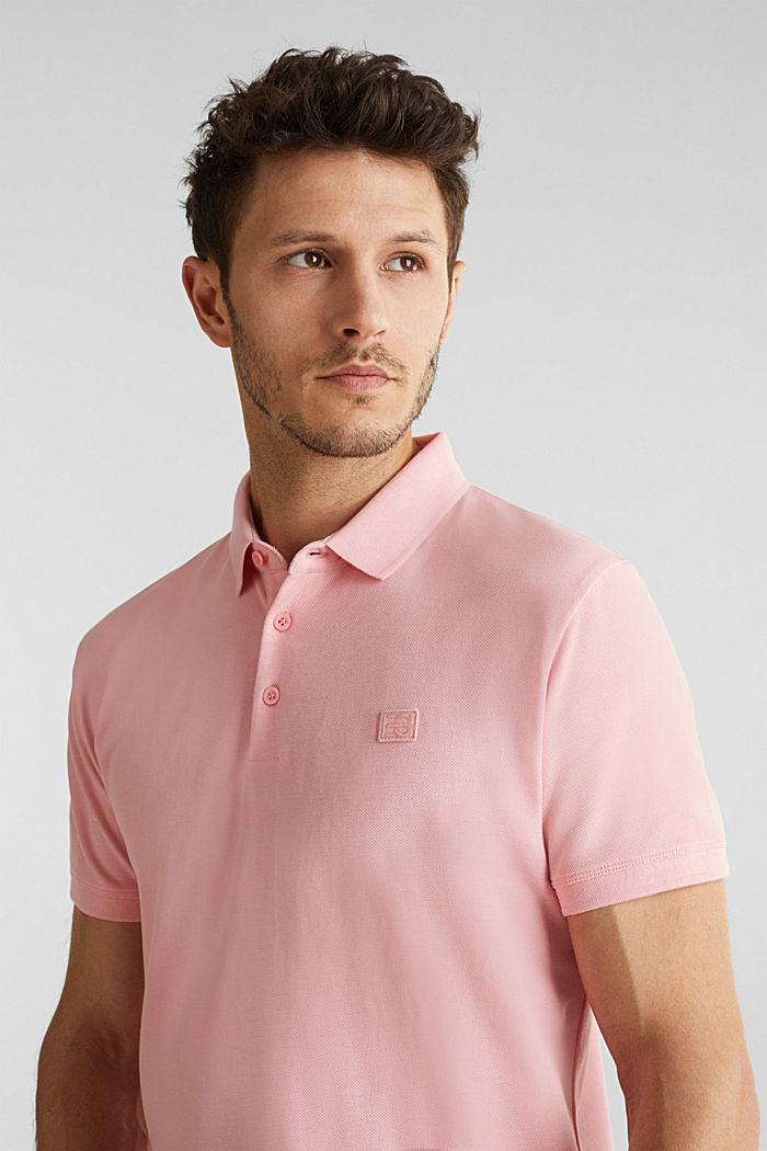 Piqué polo shirt made of 100% pima cotton, LIGHT PINK, detail image number 5