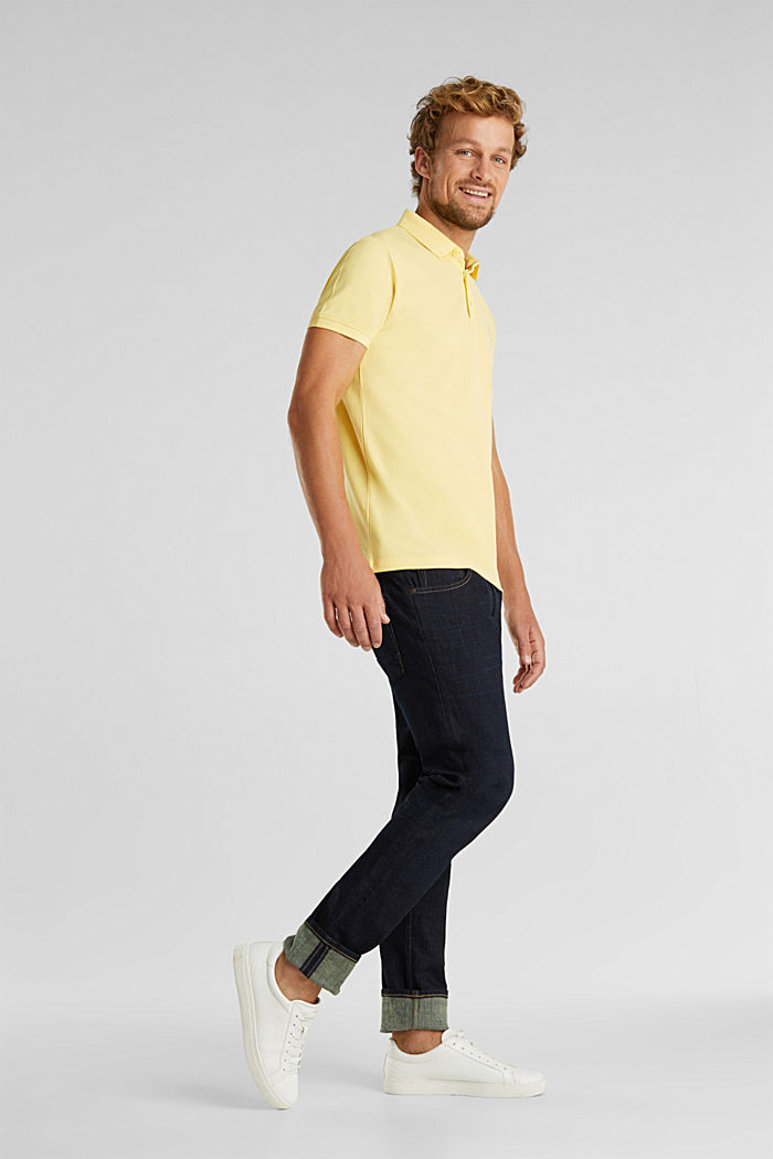 Piqué polo shirt made of 100% pima cotton, LIGHT YELLOW, detail image number 2