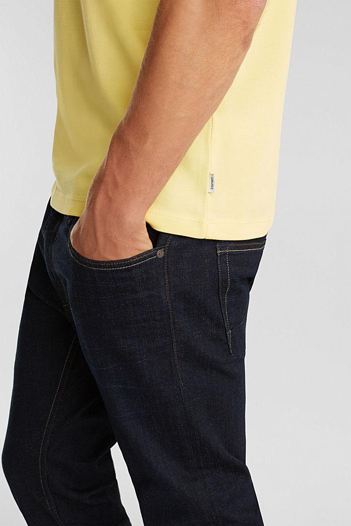 Piqué-Poloshirt aus 100% Pima Cotton, LIGHT YELLOW, detail image number 1