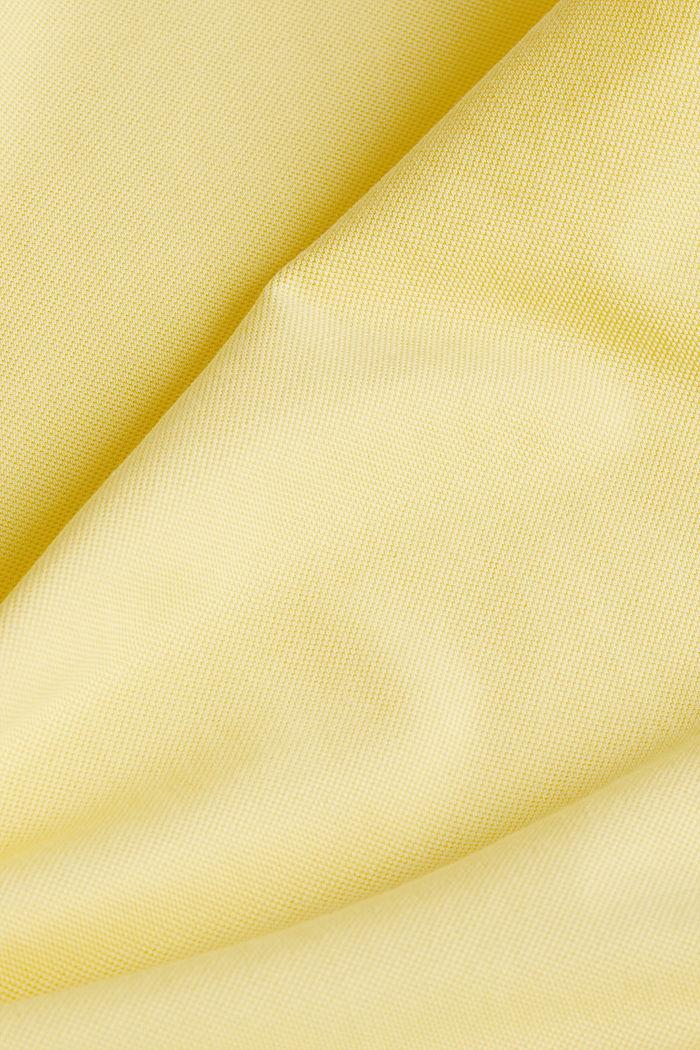 Piqué-Poloshirt aus 100% Pima Cotton, LIGHT YELLOW, detail image number 4