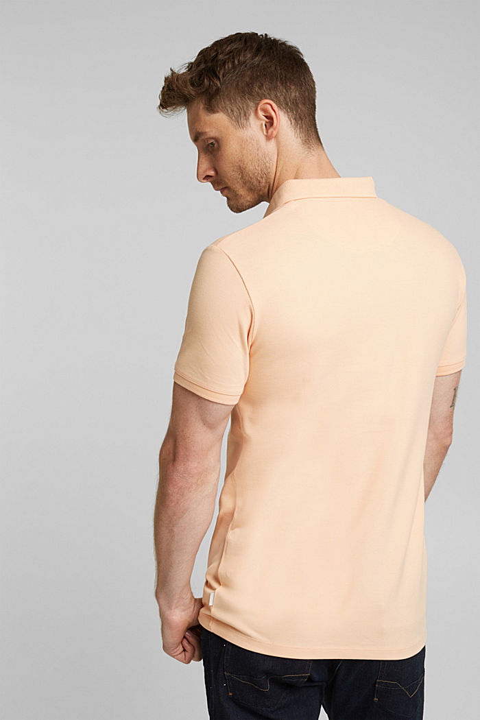 Piqué polo shirt made of 100% pima cotton, PEACH, detail image number 3