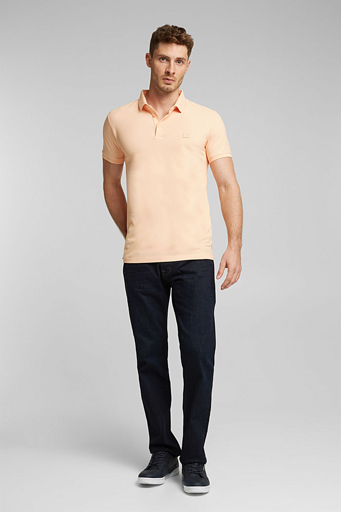 Piqué polo shirt made of 100% pima cotton, PEACH, detail image number 2