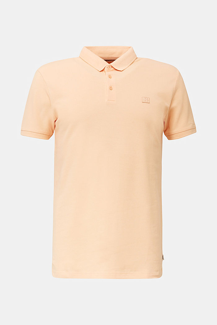 Piqué-Poloshirt aus 100% Pima Cotton, PEACH, overview