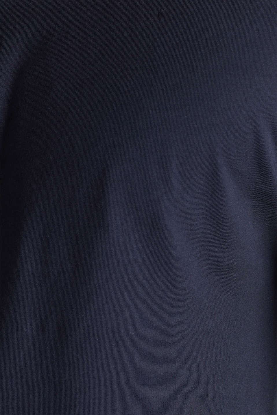 Long sleeve jersey top in 100% cotton, NAVY, detail image number 5