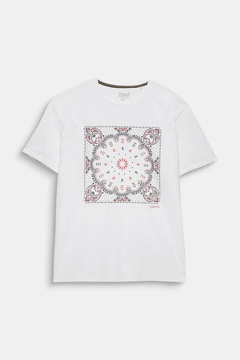 Jersey T-shirt with a bandana print, 100% cotton