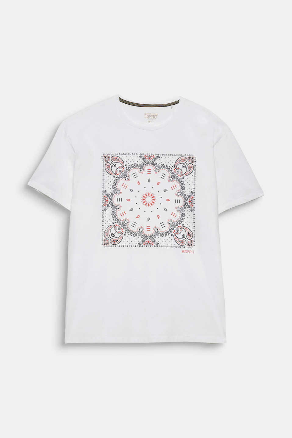 Jersey T-shirt with a bandana print, 100% cotton, WHITE, detail image number 8