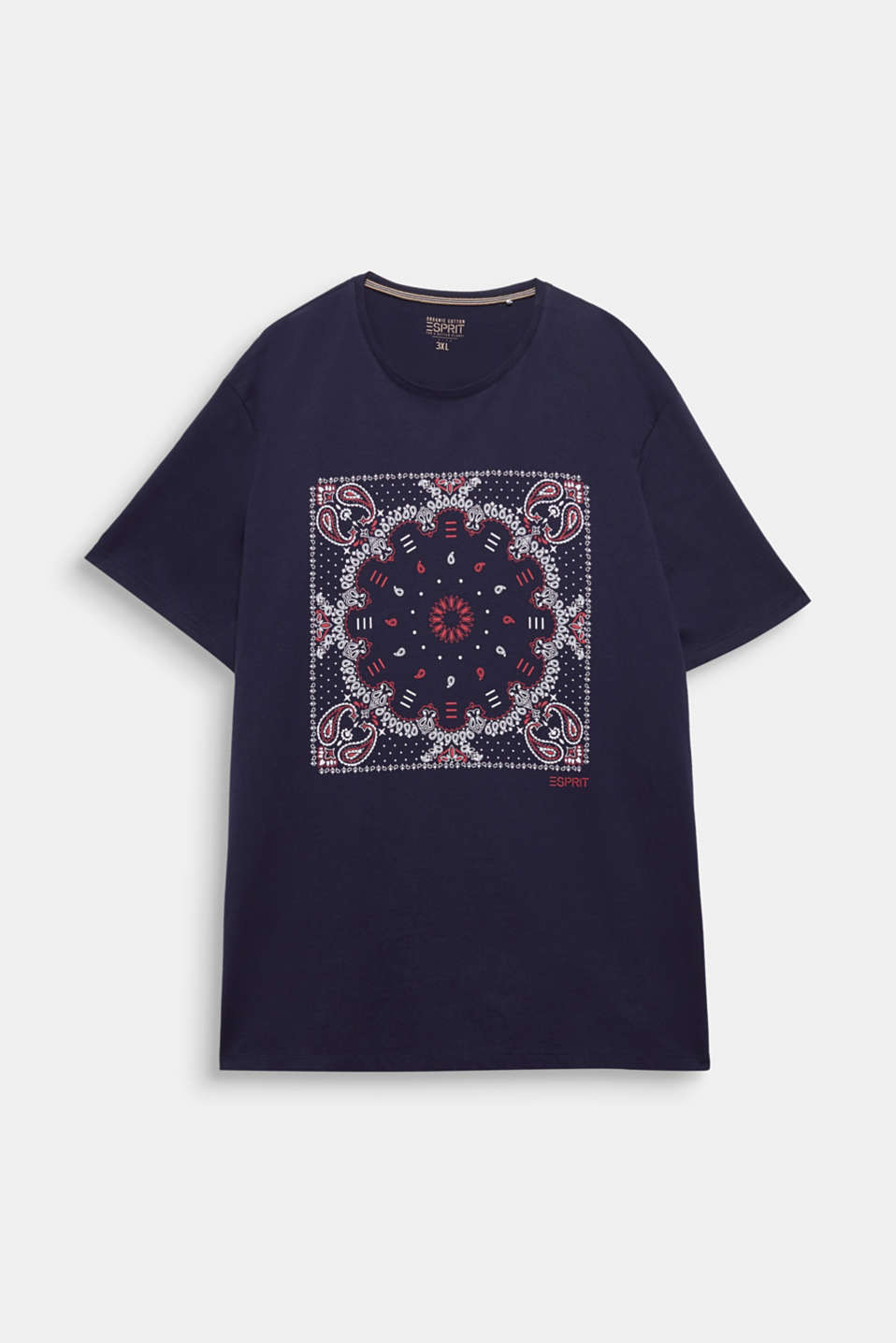 Jersey T-shirt with a bandana print, 100% cotton, NAVY, detail image number 6