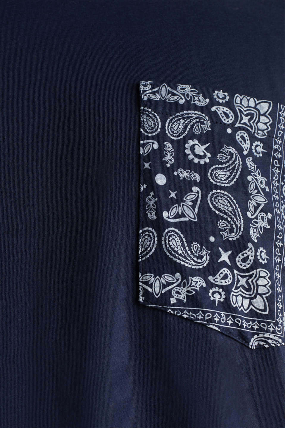 Jersey T-shirt with bandana details, 100% cotton, NAVY 4, detail image number 1
