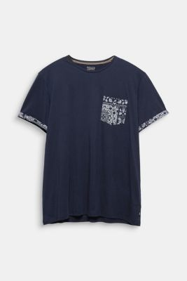 Jersey T-shirt with bandana details, 100% cotton, NAVY 4, detail