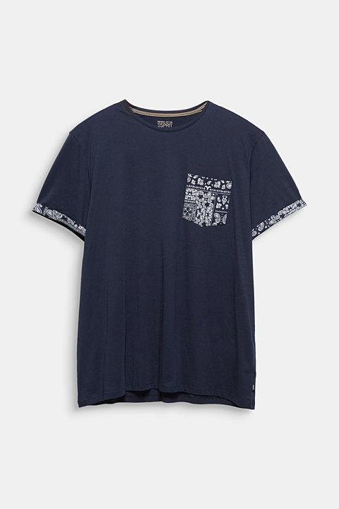 Jersey T-shirt with bandana details, 100% cotton