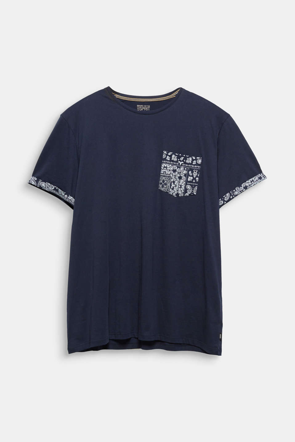 Jersey T-shirt with bandana details, 100% cotton, NAVY 4, detail image number 6