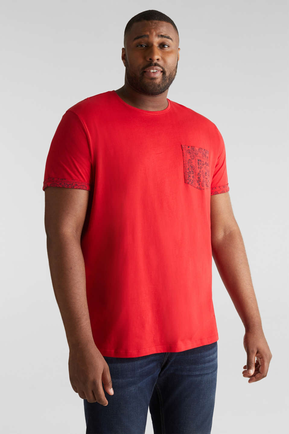 Esprit - Jersey-T-shirt i 100% bomull