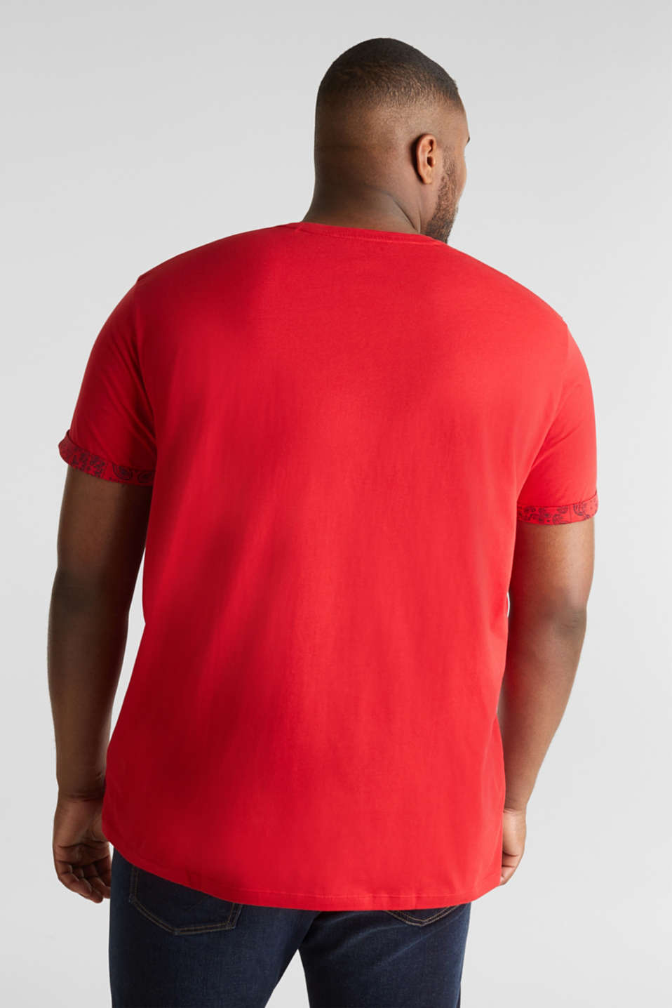 Jersey T-shirt with bandana details, 100% cotton, RED, detail image number 3