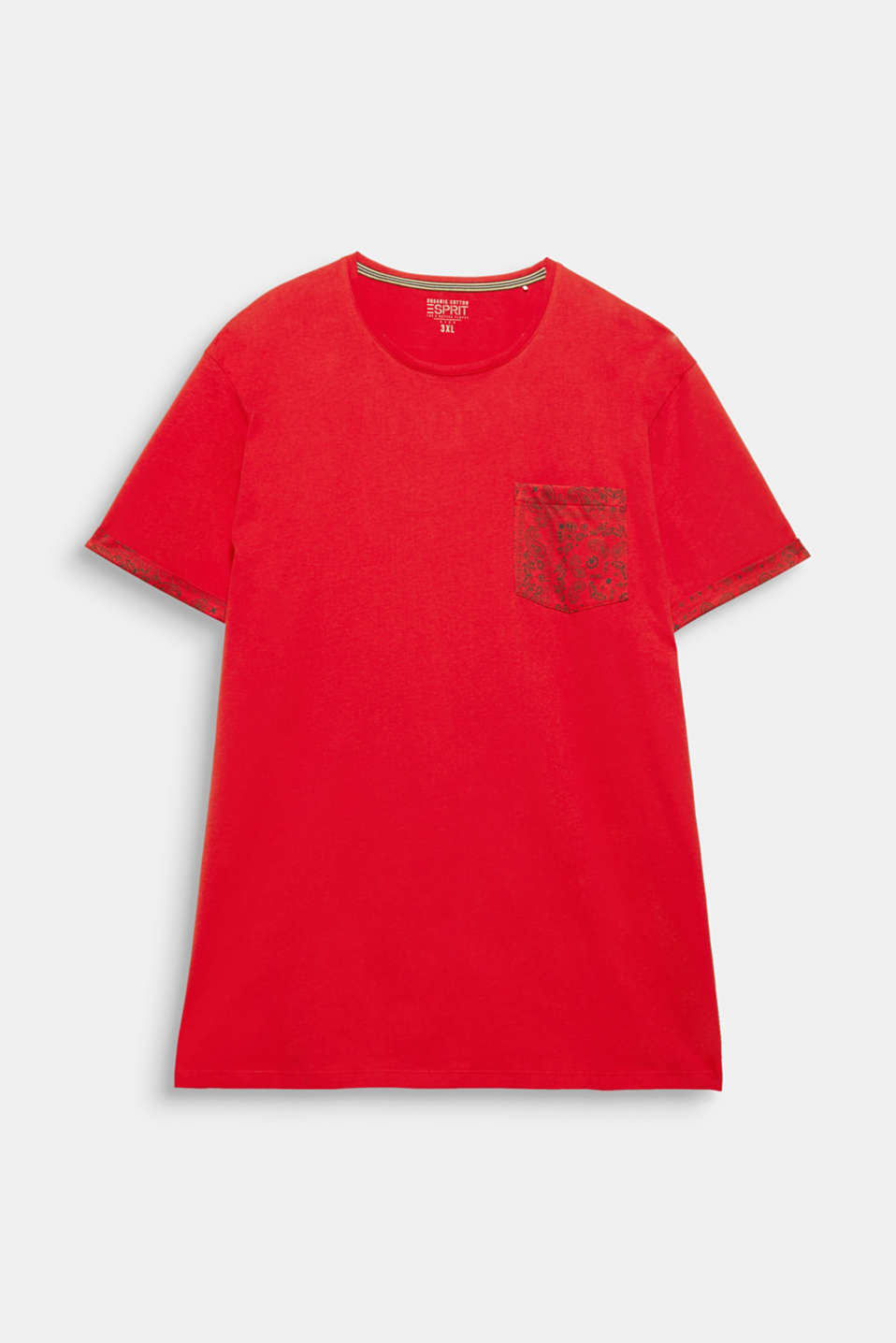 Jersey T-shirt with bandana details, 100% cotton, RED, detail image number 6