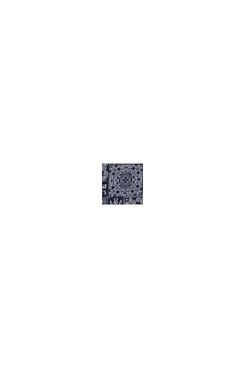 Jersey polo shirt with a bandana print, 100% cotton, NAVY, swatch