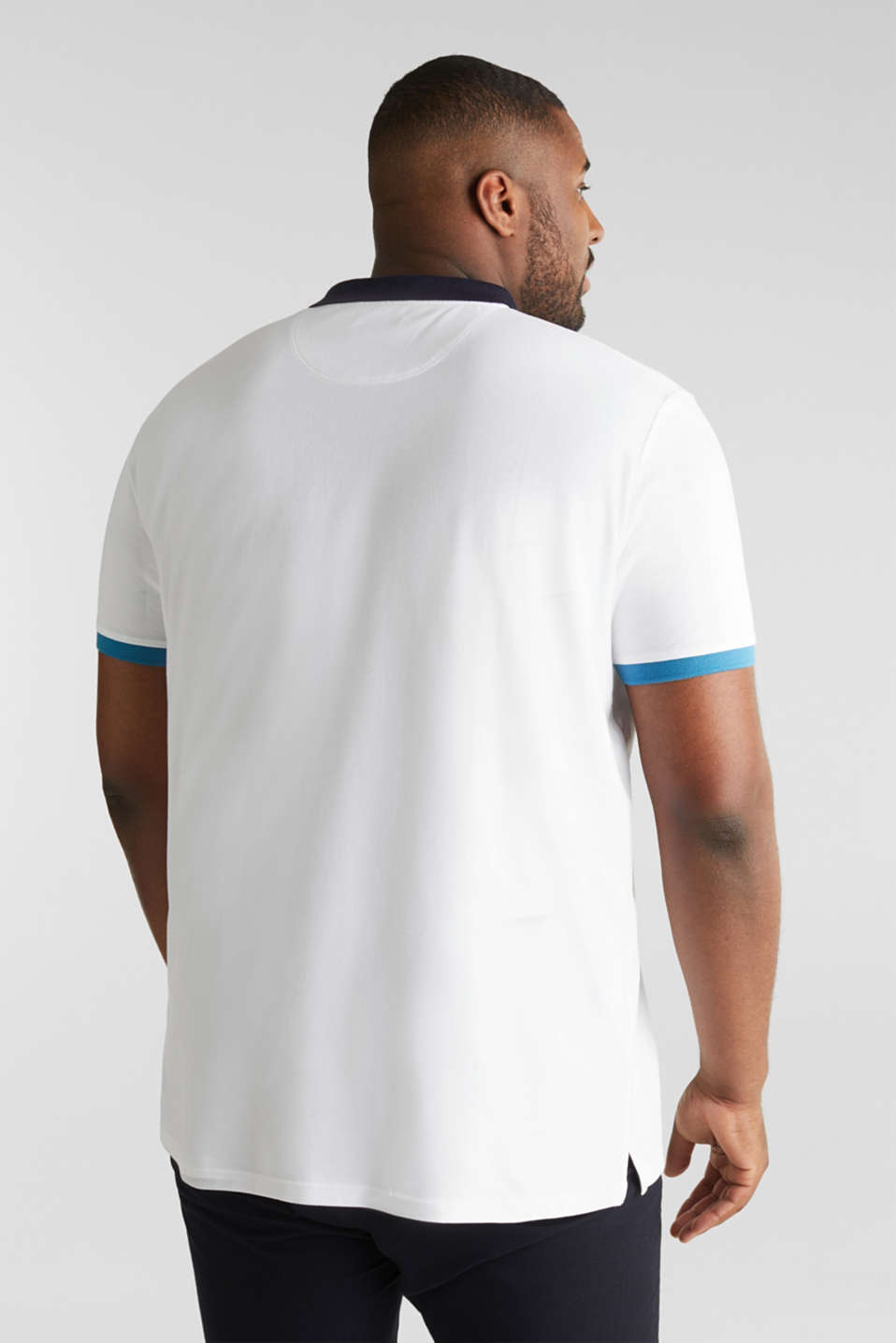 Piqué polo shirt in 100% cotton, WHITE 2, detail image number 3