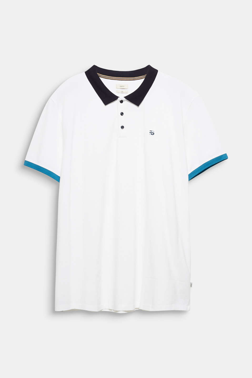 Piqué polo shirt in 100% cotton, WHITE 2, detail image number 5