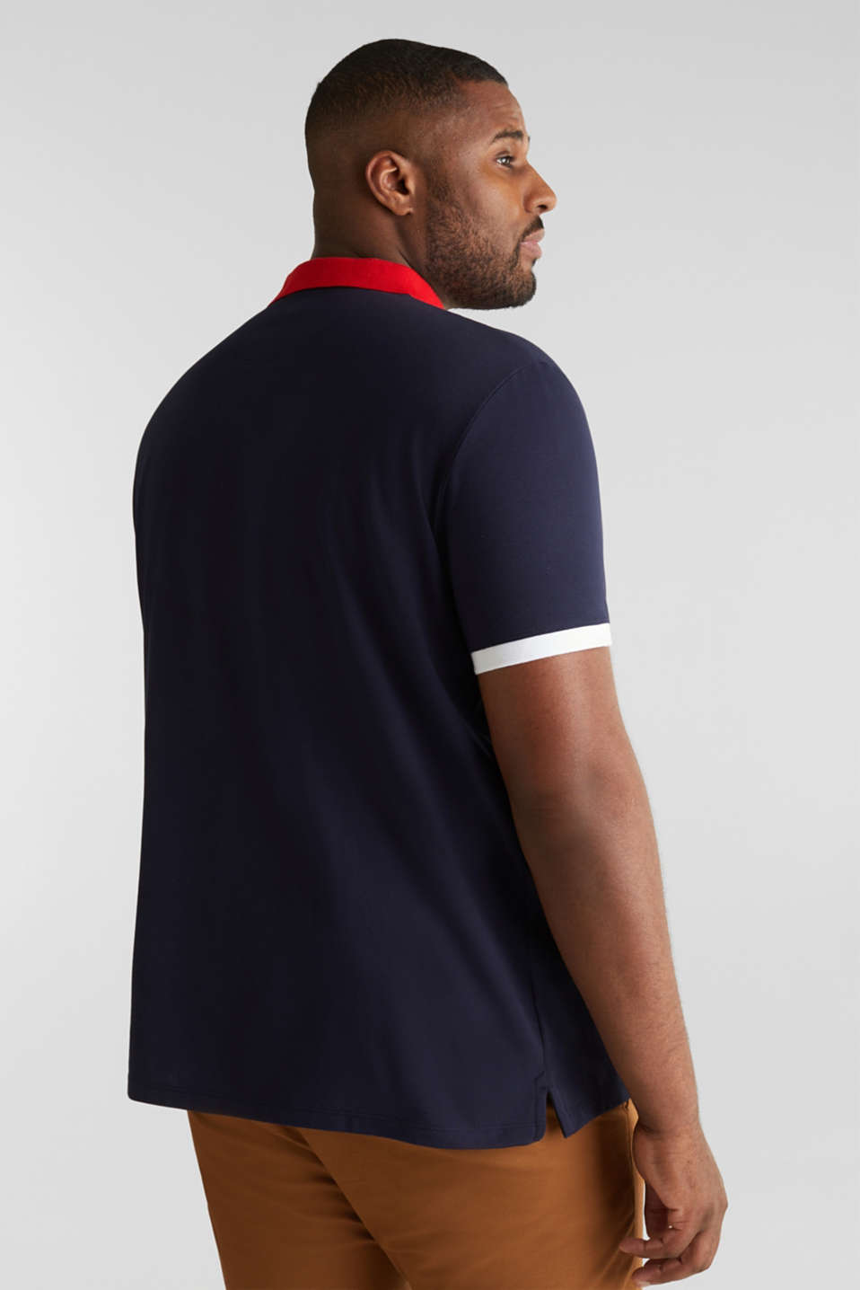 Piqué polo shirt in 100% cotton, NAVY 2, detail image number 3