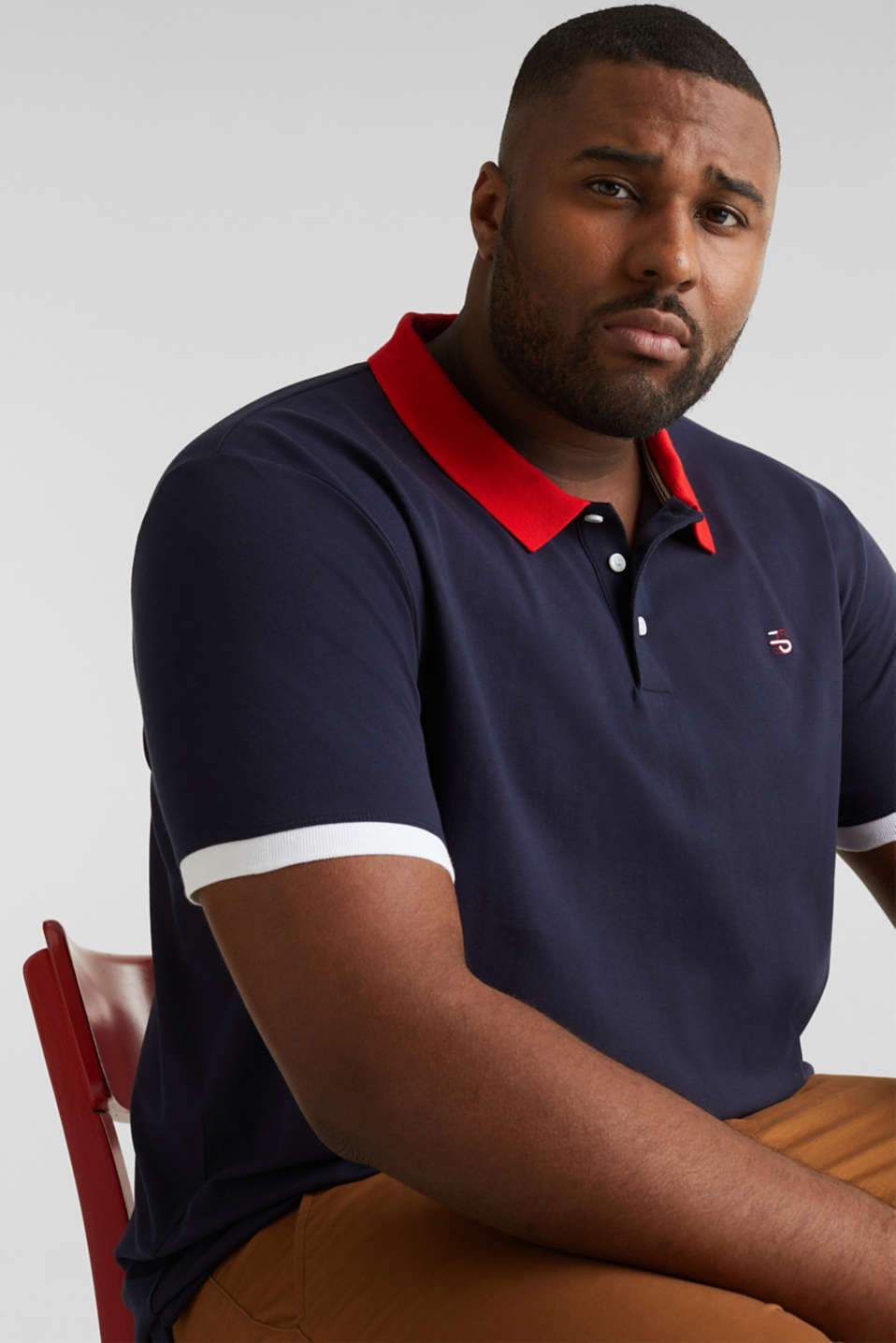 Piqué polo shirt in 100% cotton, NAVY 2, detail image number 5