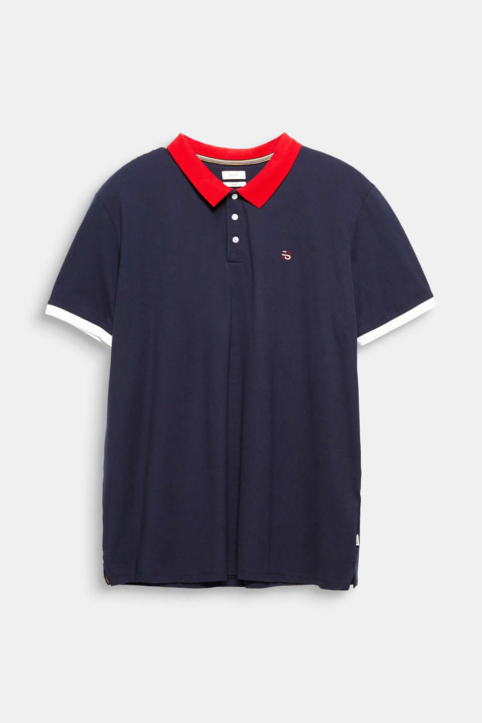 Piqué polo shirt in 100% cotton, NAVY 2, detail image number 6