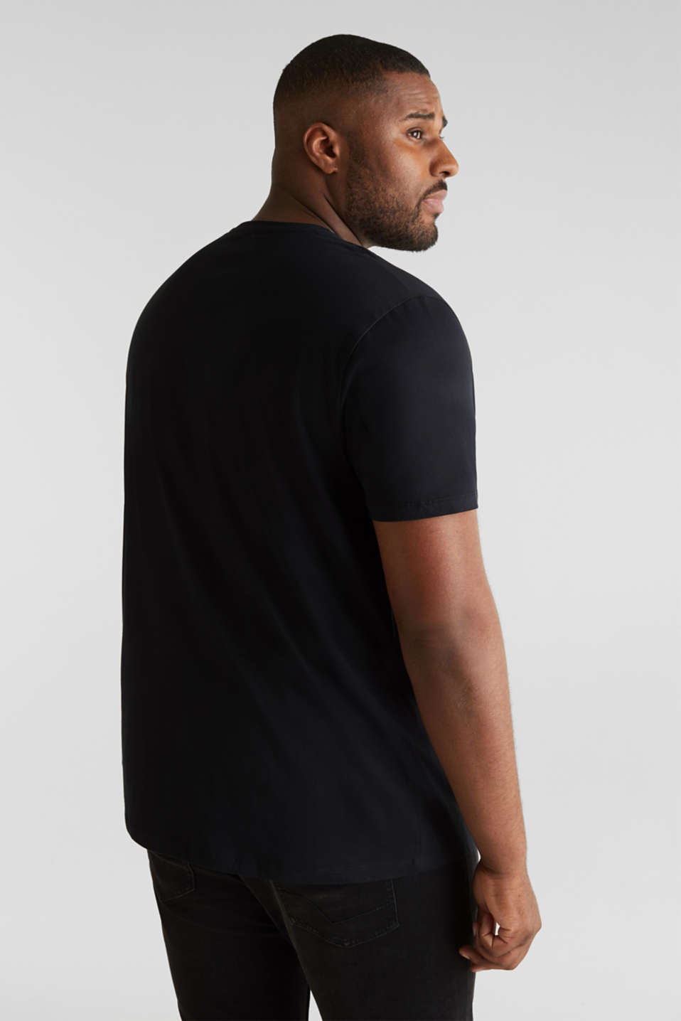 Double pack of jersey T-shirts in 100% cotton, BLACK, detail image number 2