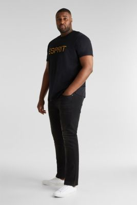 Double pack of jersey T-shirts in 100% cotton, BLACK, detail