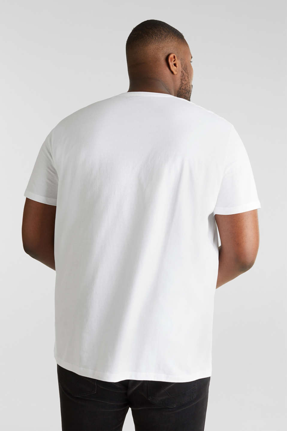 Double pack of jersey T-shirts in 100% cotton, WHITE, detail image number 2