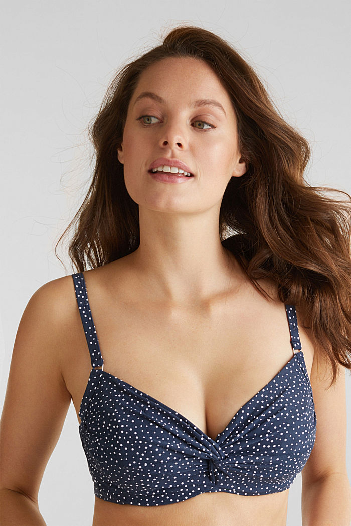 Unpadded underwire top for larger cups, NAVY, detail image number 0