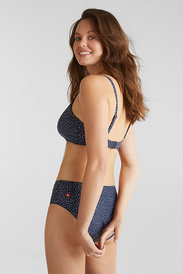 Unpadded underwire top for larger cups, NAVY, detail image number 1