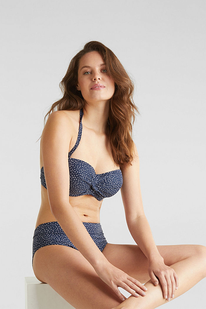 Padded bandeau top for large cup sizes, NAVY, detail image number 2