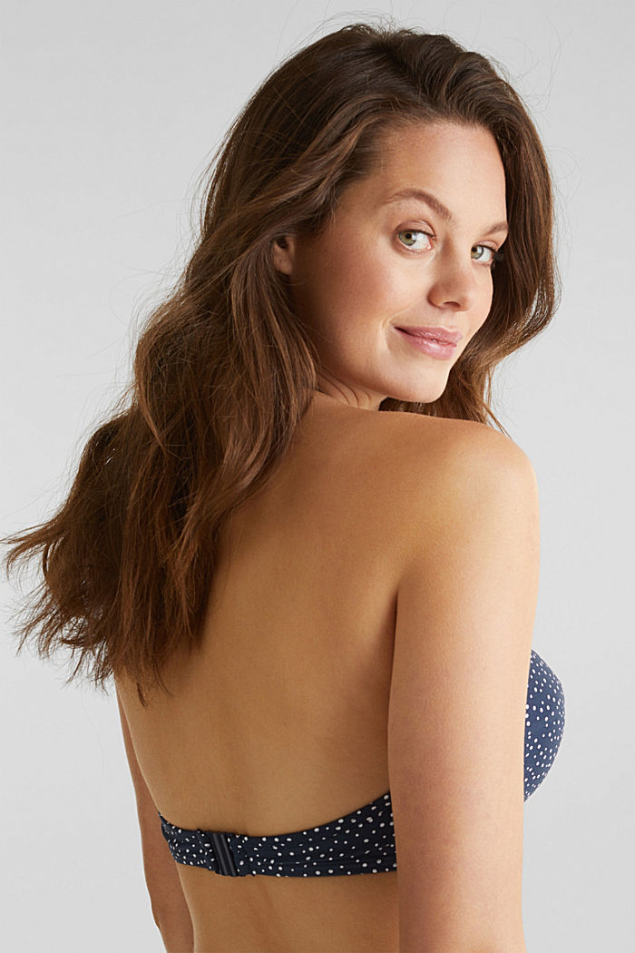 Padded bandeau top for large cup sizes, NAVY, detail image number 4