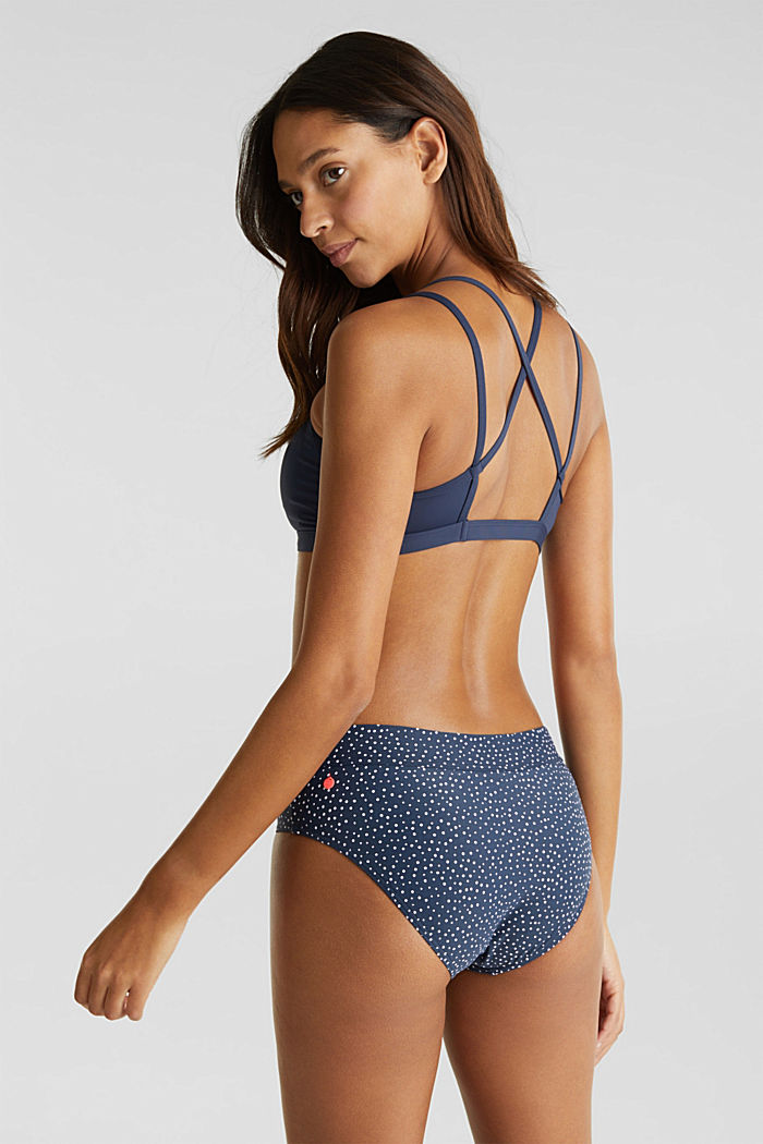 Waist height briefs with a polka dot print, NAVY, detail image number 2