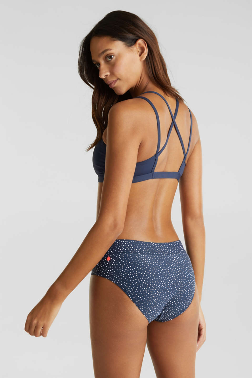 Waist height briefs with a polka dot print, NAVY 2, detail image number 2