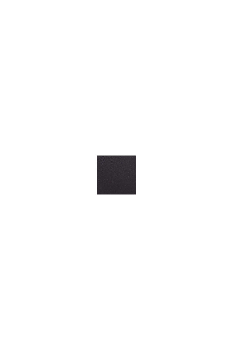 Wattiertes Top im Color-Block-Style, BLACK, swatch