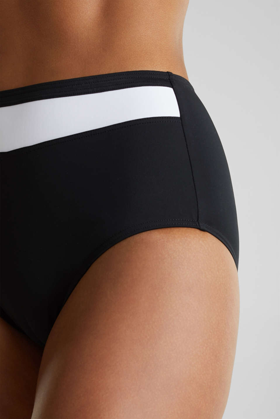 Shaping briefs with block stripes, BLACK, detail image number 1