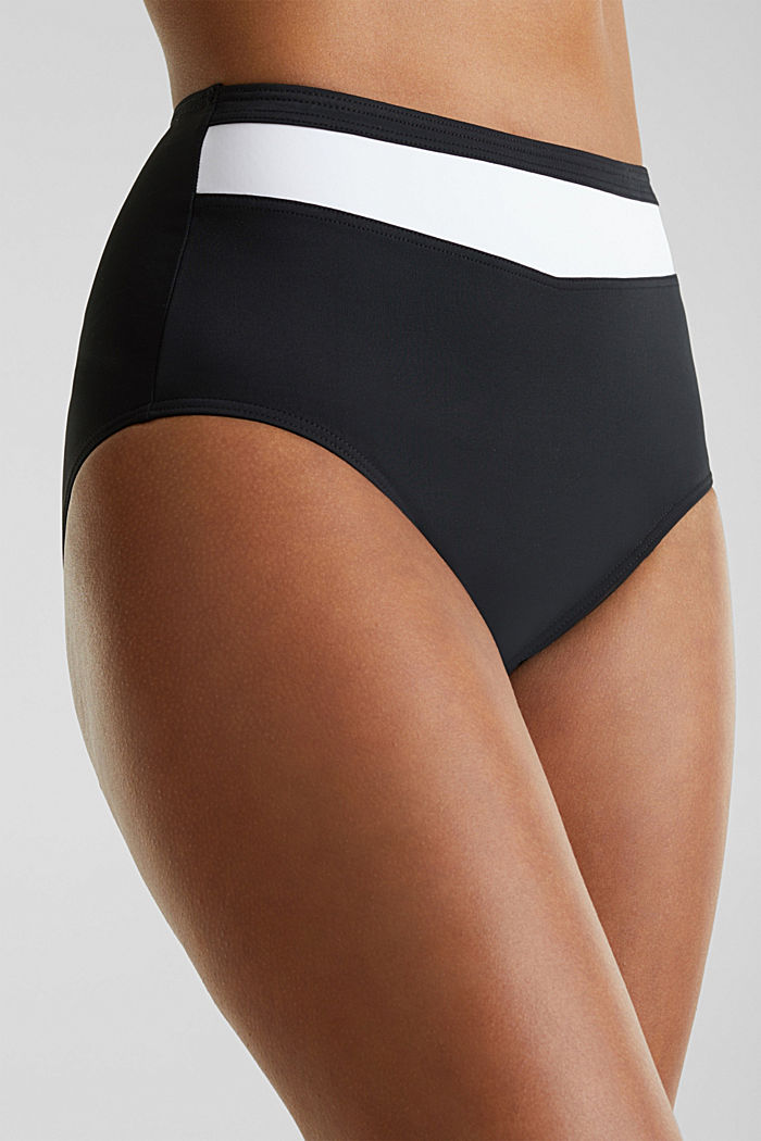 Shaping briefs with block stripes, BLACK, detail image number 3