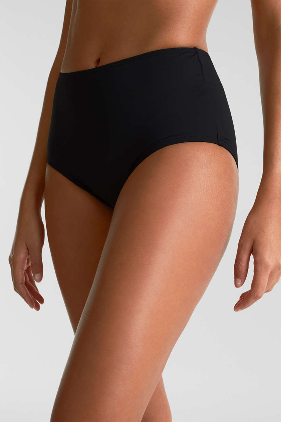 High-waisted briefs with a shaping effect, BLACK, detail image number 0