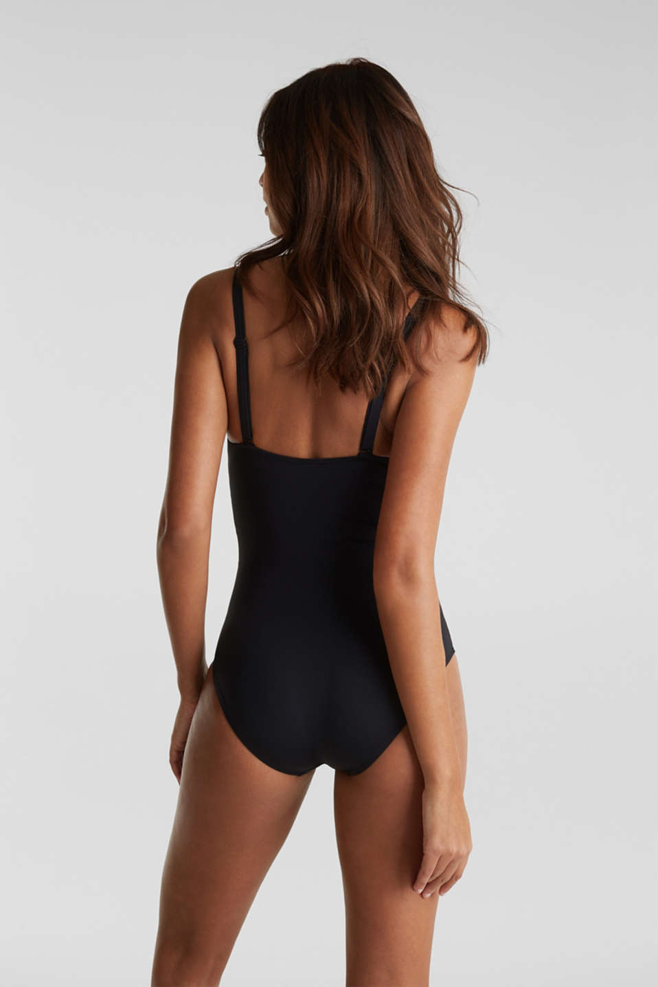 Shaping swimsuit in a colour block look, BLACK, detail image number 1