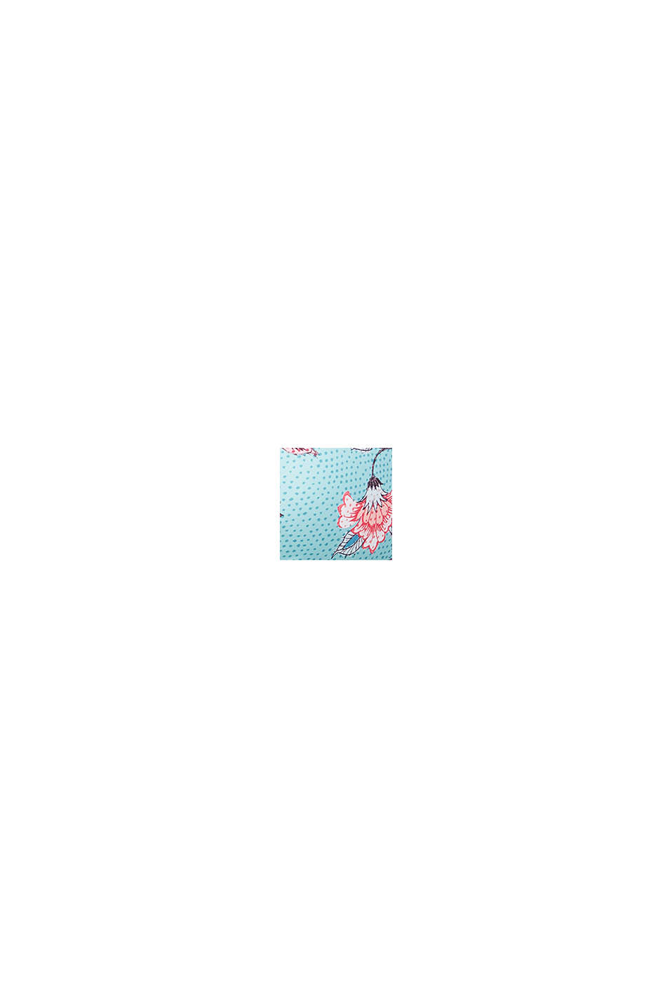 Push-up-Top mit Blütenranken, TURQUOISE, swatch