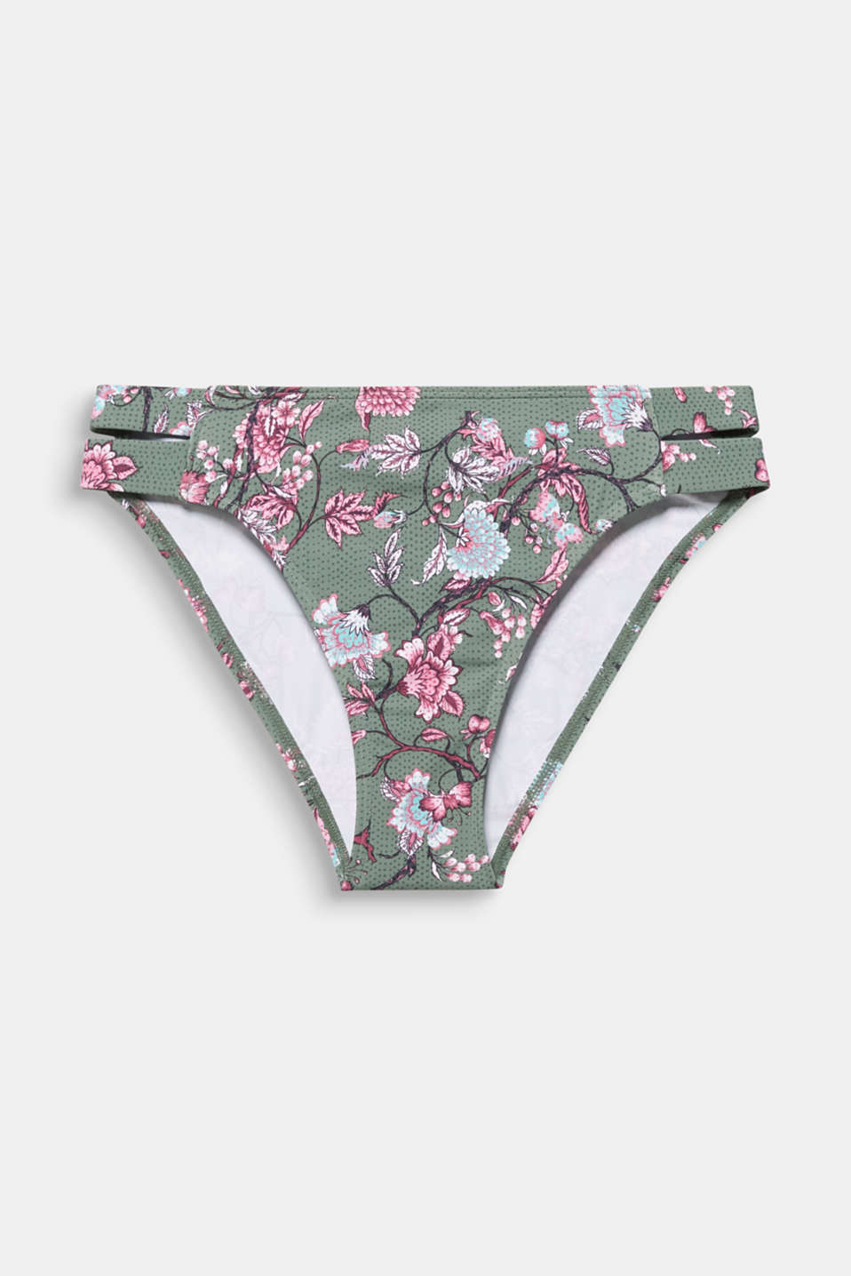 Midi briefs with floral tendrils, LIGHT KHAKI, detail image number 3