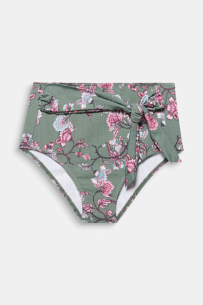 High-waisted briefs with floral tendrils
