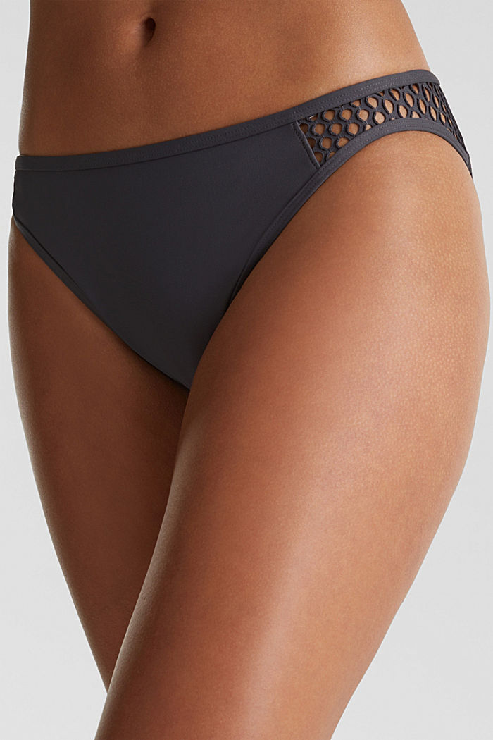 Mini briefs with mesh details, ANTHRACITE, detail image number 1