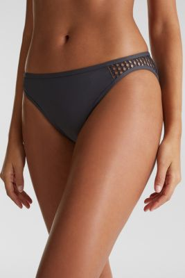 Mini briefs with mesh details, ANTHRACITE, detail