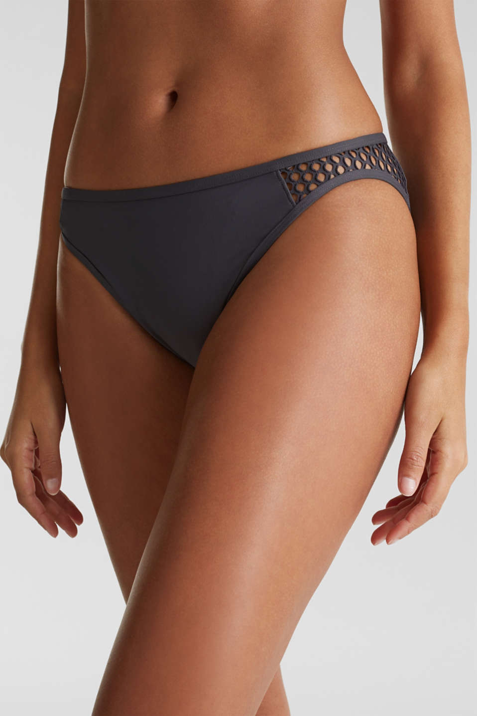 Mini briefs with mesh details, ANTHRACITE, detail image number 3