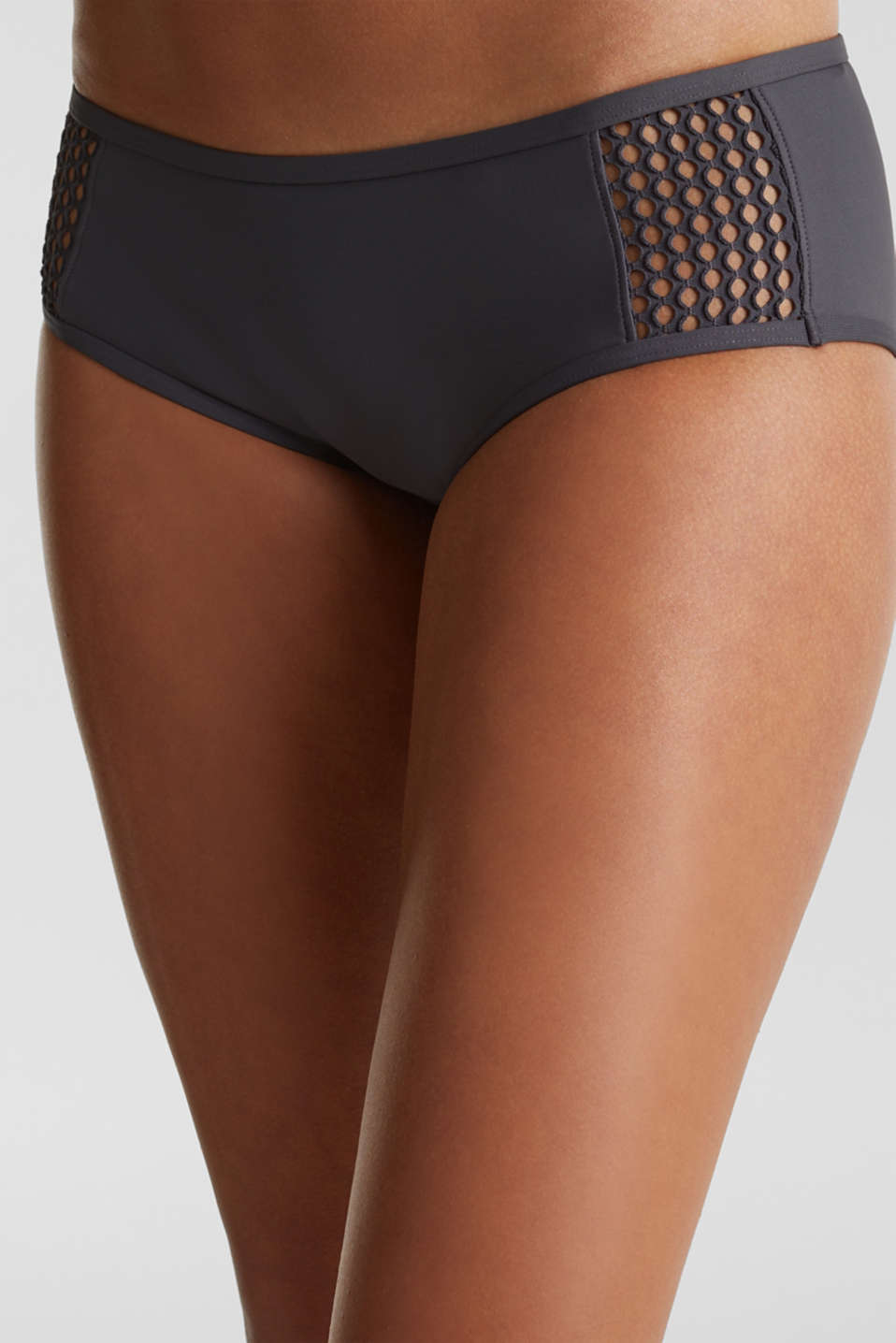 Hipster shorts with mesh details, ANTHRACITE, detail image number 1